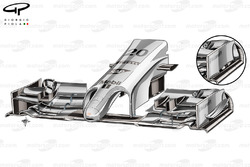 DUPLICATE: McLaren MP4-29 front wing changes for China - slotted endplate canard (old specification inset)