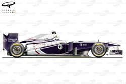 Williams FW33 side view, British GP