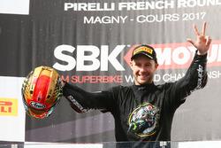 Le vainqueur de la course et Champion du monde 2017, Jonathan Rea, Kawasaki Racing