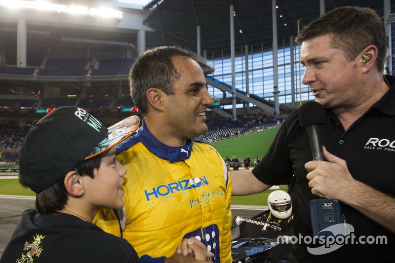 Champion der Champions Juan Pablo Montoya, feiert seinen Sieg