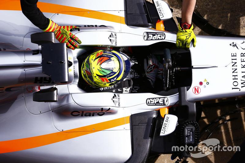 Sergio Perez, Force India, dans la voie des stands
