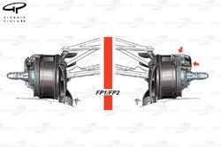 Mercedes W08 tubo de freno delantero, sesion viernes, GP de Azerbaiyán