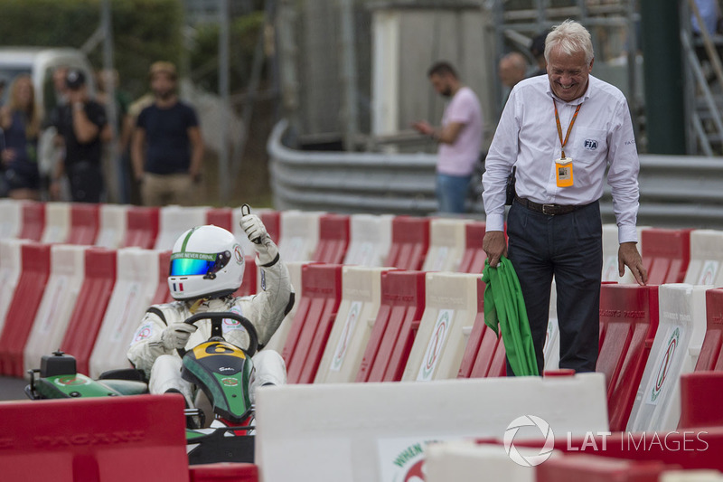 Karting and Charlie Whiting, FIA Delegate