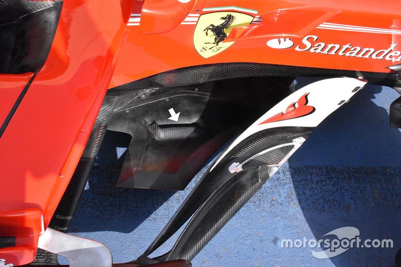 Ferrari SF70H extensiones triangulares del divisor