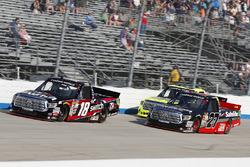 Noah Gragson, Kyle Busch Motorsports Toyota, Ben Rhodes, ThorSport Racing Toyota, Matt Crafton, ThorSport Racing Toyota