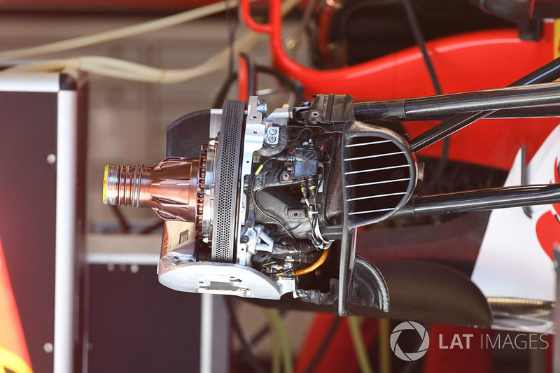 Moyeu avant de la Ferrari SF70H