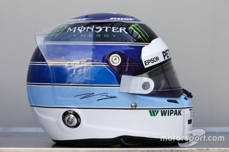 Helm spesial GP Monako of Valtteri Bottas, Mercedes-AMG F1