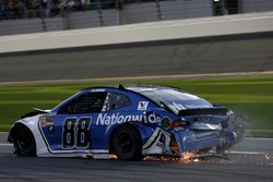 Alex Bowman, Hendrick Motorsports Chevrolet Camaro after the crash