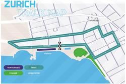 Streckenlayout ePrix Zürich