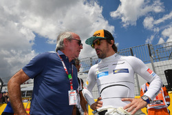 Fernando Alonso, McLaren and Jacques Laffitte, on the grid
