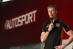 Matt Neal on the Autosport Stage