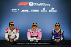 Press conference: race winner Maximilian Gunther, BWT Arden, second place George Russell, ART Grand Prix, third place Lando Norris, Carlin