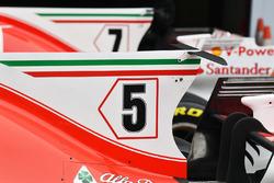 Ferrari SF70H: Motorhauben-Finne und T-Flügel