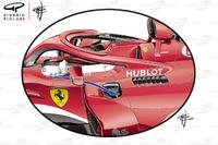 Бічні понтони Ferrari SF71H, Гран Прі Австралії