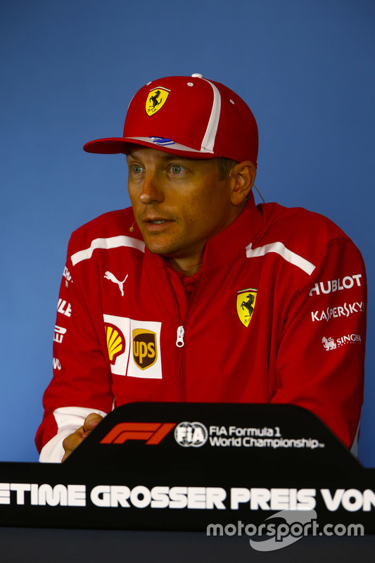 Kimi Raikkonen, Ferrari, in the Thursday press conference