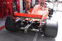 L'aileron arrière de la Ferrari SF71H