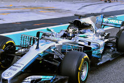 Valtteri Bottas, Mercedes-Benz F1 W08, con sensores aerodinámicos