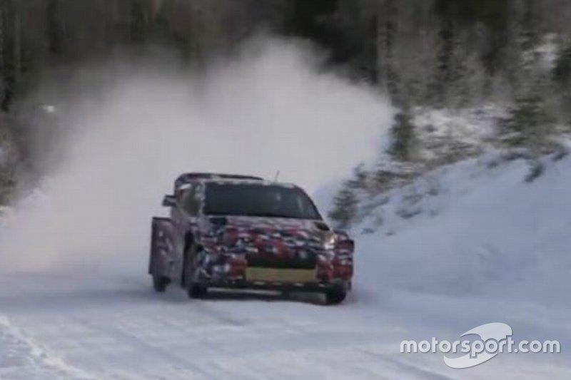 Test del Toyota Yaris WRC 2021