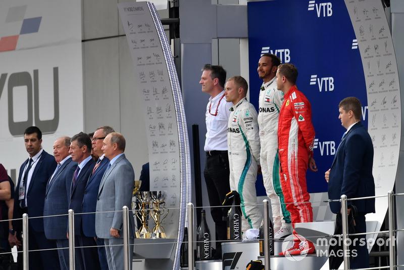 Suasana podium GP Rusia