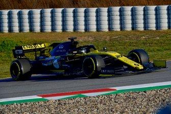Nico Hulkenberg, Renault Sport F1 Team R.S. 19, in testacoda