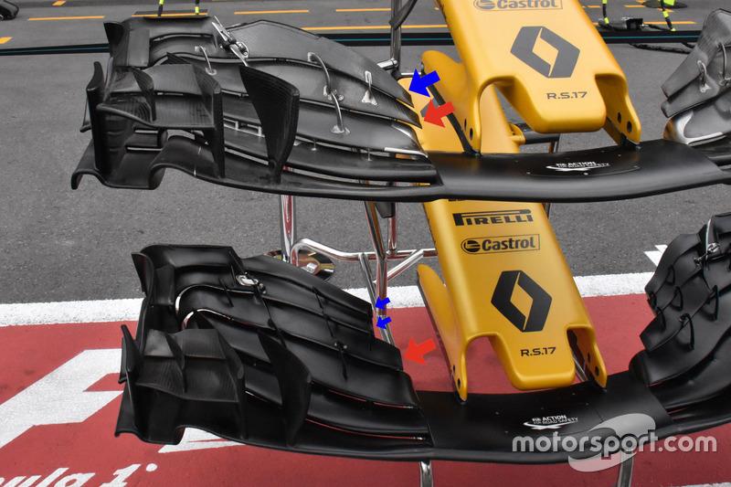 تفاصيل الجناح الأمامي لسيارة رينو