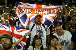 Lewis Hamilton, Mercedes AMG F1 fans celebrate
