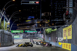 Nico Hulkenberg, Renault Sport F1 Team RS17, Sergio Perez, Sahara Force India F1 VJM10, Jolyon Palmer, Renault Sport F1 Team RS17, Lance Stroll, Williams FW40, Stoffel Vandoorne, McLaren MCL32