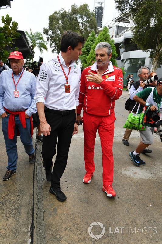 Toto Wolff, Mercedes, Maurizio Arrivabene, Ferrari