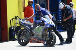 Bike von Valentino Rossi, Yamaha Factory Racing, nach Crash