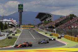 Фернандо Алонсо, McLaren MCL32, Паскаль Верляйн, Sauber C36, Фелипе Масса, Williams FW40