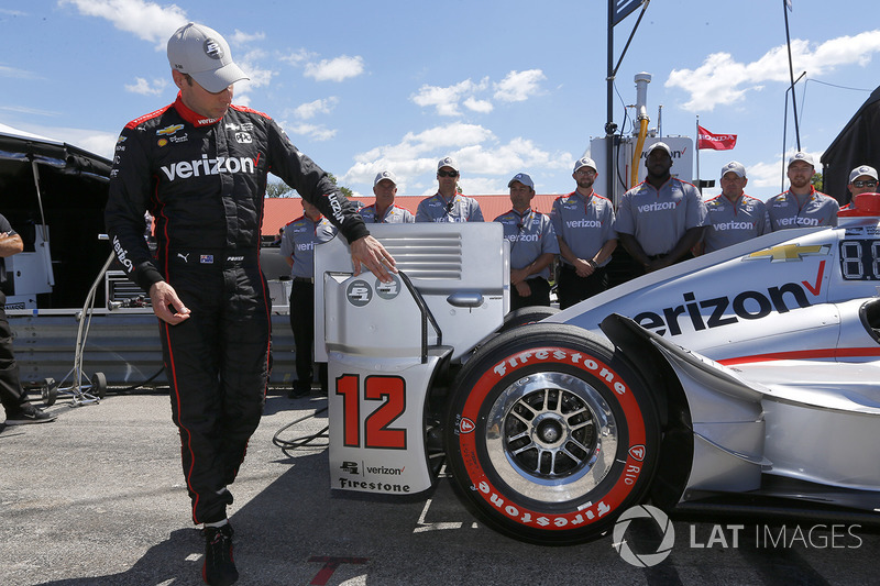 Will Power, Team Penske Chevrolet celebra al ganar la pole Verizon P1