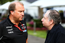 Robert Fernley, Sahara Force India F1 Team Deputy Team Principal with Jean Todt, FIA President