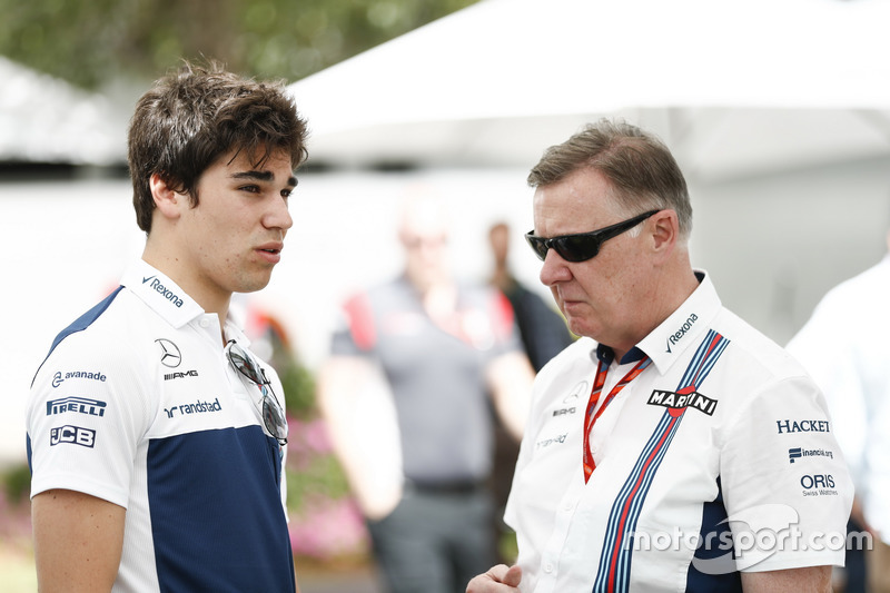 Lance Stroll, Williams, mit Mike O' Driscoll, Group CEO, Williams