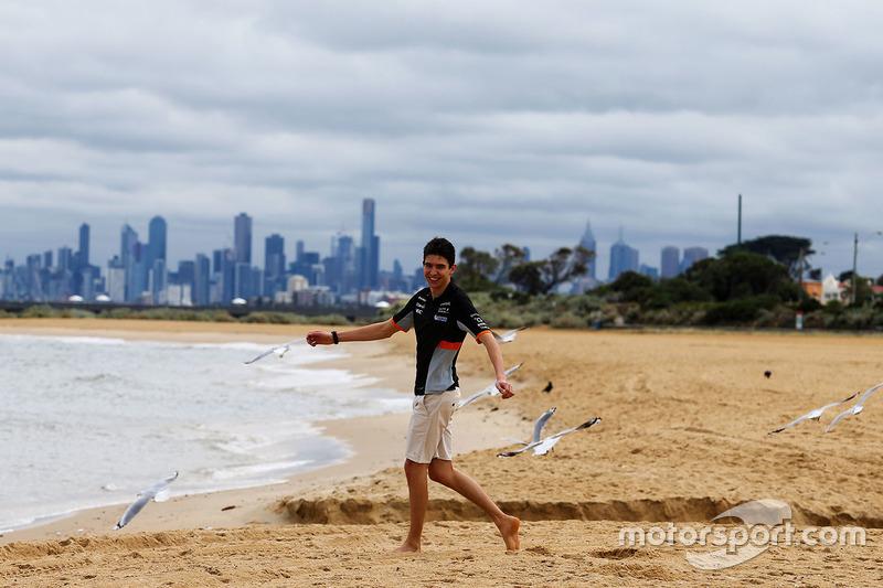 Esteban Ocon, Sahara Force India F1 Team, am Brighton Beach