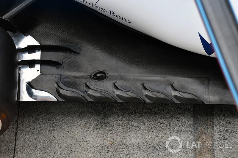 Задня частина днища Williams FW40