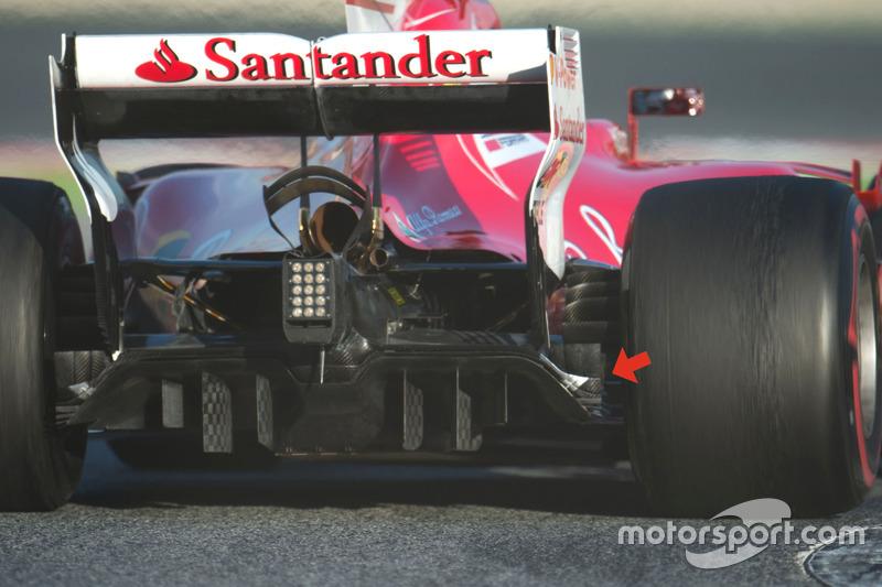 Ferrari SF70H, difusor