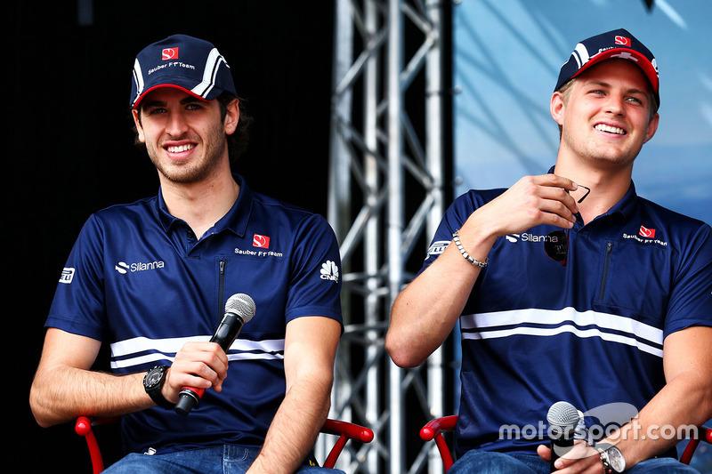 Antonio Giovinazzi, Sauber con Marcus Ericsson, Sauber