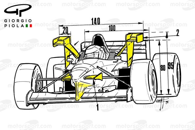 Tyrrell 025 front view, Monaco GP
