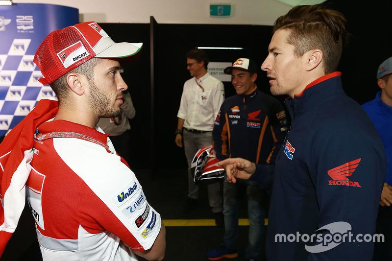 Andrea Dovizioso, Ducati Team, Nicky Hayden, Repsol Honda Team