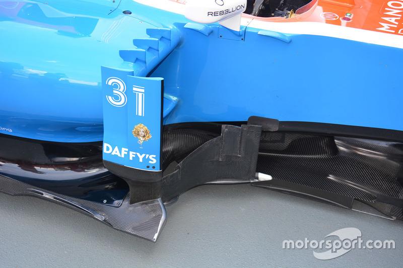 Manor Racing MRT05 sidepods detail
