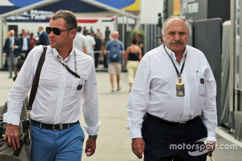 (L to R): Tom Kristensen, FIA Steward with Jose Abed, FIA Vice President