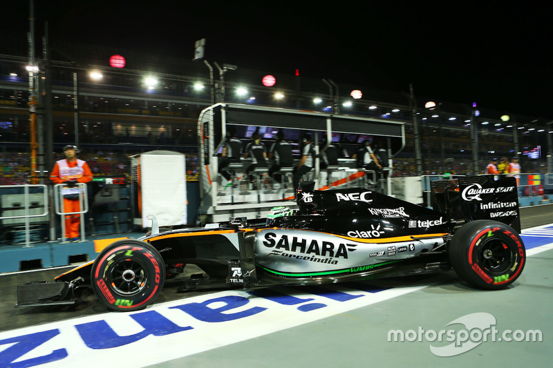 Nico Hulkenberg, Sahara Force India F1 VJM09 leaves the pits