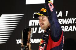 Podium: derde plaats Sebastian Vettel, Red Bull Racing RB8