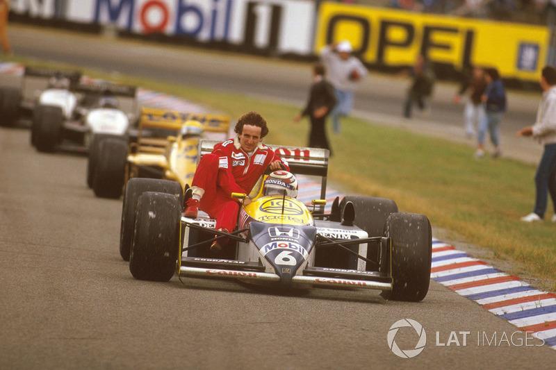 Hockenheim 1987 : Nelson Piquet (Williams) lleva a Alain Prost (McLaren)