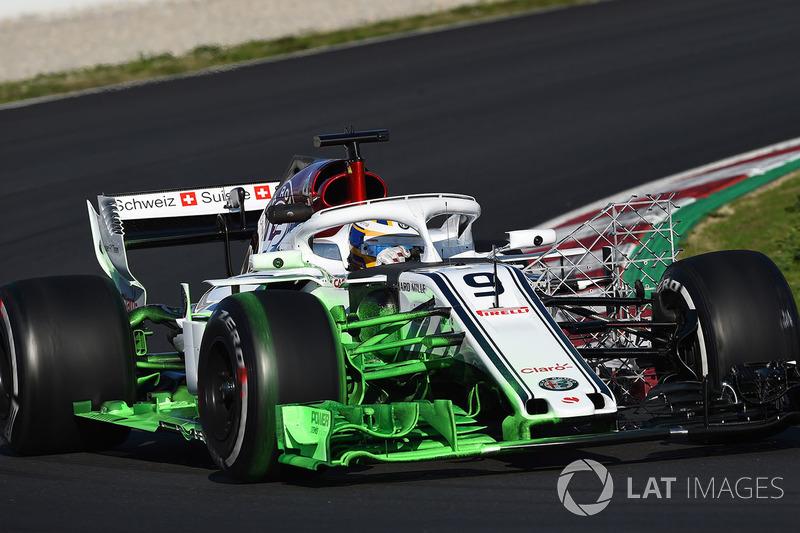Marcus Ericsson, Alfa Romeo Sauber C37 with aero paint
