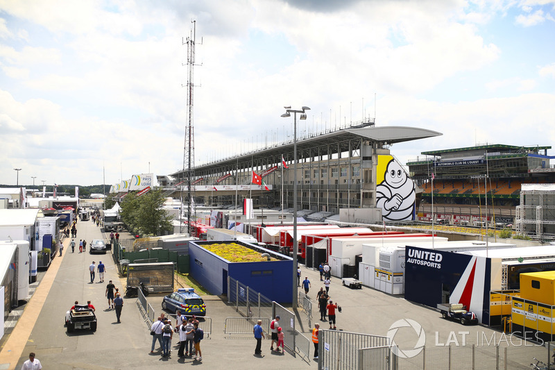 The Le Mans paddock