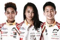 Presley Martono, Kezia Santoso, Keanon Santoso, Formula 4 South East Asia
