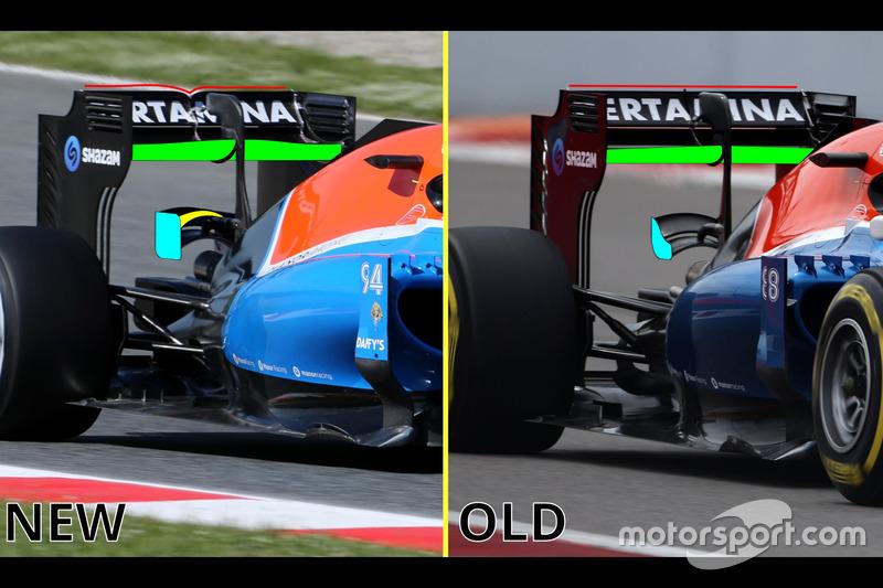 Manor Racing: Heckflügel und Monkey Seat
