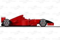 El Ferrari F2001 conducido por Michael Schumacher en Monza en 2001. Prohibida la reproducción, Motorsport.com exclusivo. ¿Uso comercial? mail to:fr.adsales@motorsport.com fr.AdSales@Motorsport.com