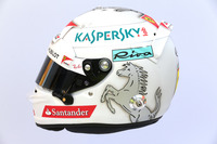 The helmet of Sebastian Vettel, Ferrari